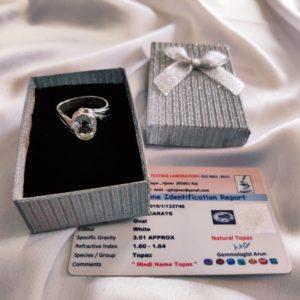 white topaz ring ,